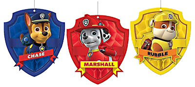 Paw Patrol Honeycomb Hanging Decorations NZ