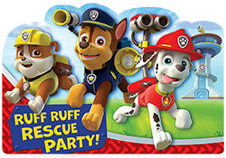 Paw Patrol Party Invitations NZ