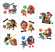 Paw Patrol Party Tattoos