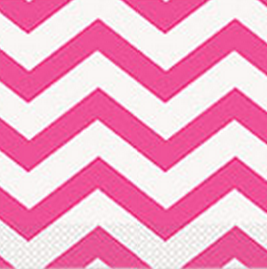 Pink Chevron Party Napkins