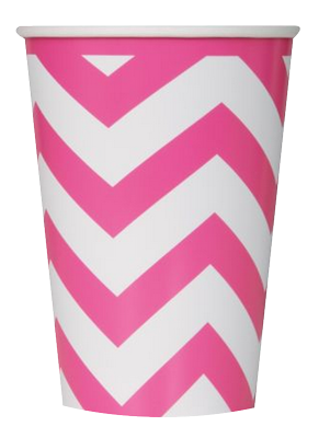 Pink Chevron Party Cups