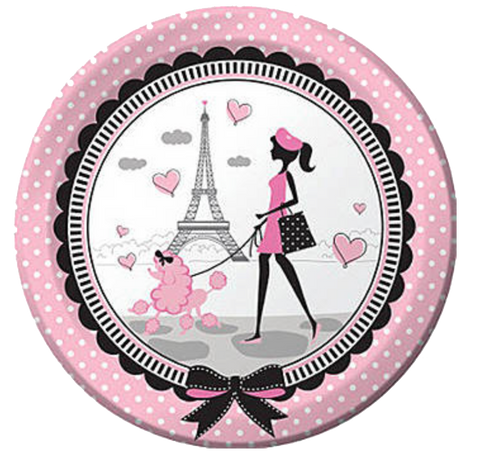 Pink Paris Party Dinner Plates