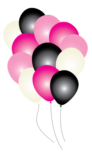 Pink Paris Party Balloons pk16