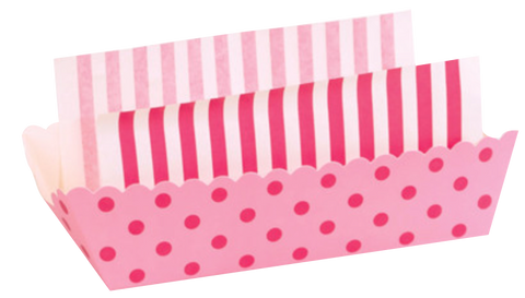 Pink Stripe Baking Trays