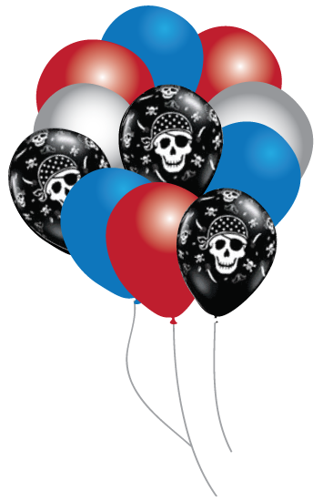 Pirate Parrty Balloons Party pack 16