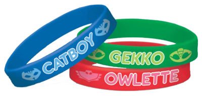 PJ Masks Rubber Bands pk6