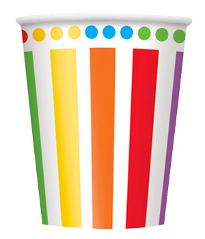 Red Striped Party Cups