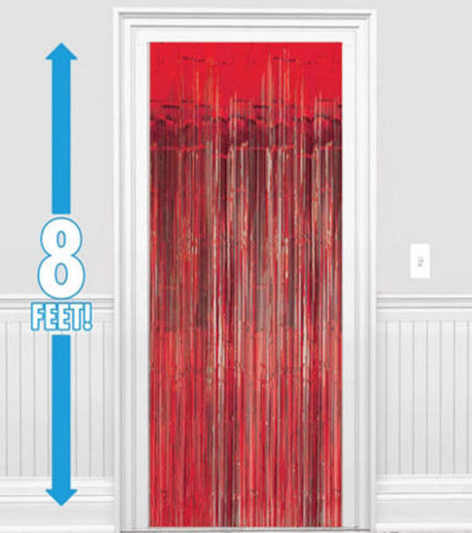 Red Metallic Foil Curtain