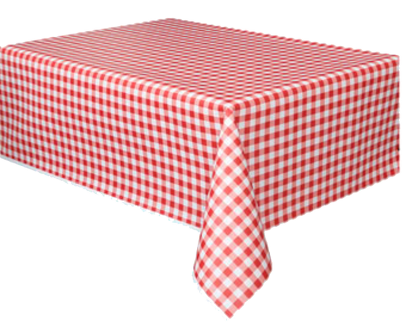 Red Gingham Table Cloth Just Party Supplies Nz