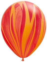 Red Orange Marble Balloon