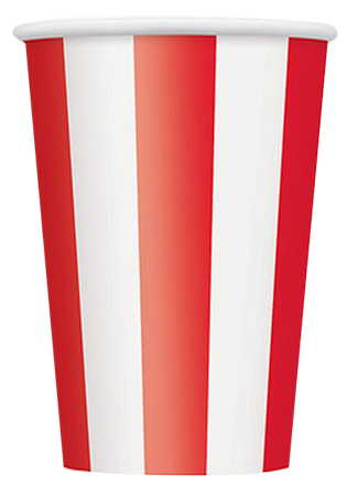 Red Striped Party Cups, pirate party