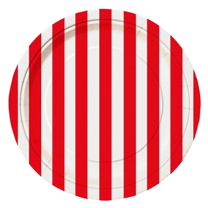 Red Striped Lunch Plates, pirate party