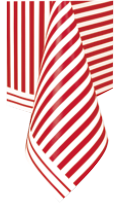 red striped Table Cloth