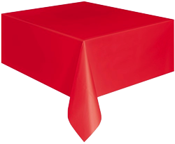 Red Plastic Table Cloth