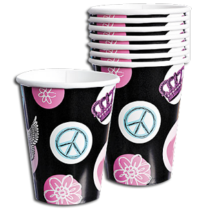 Rock star princess invitations