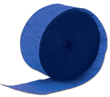 Royal Blue Paper Streamer