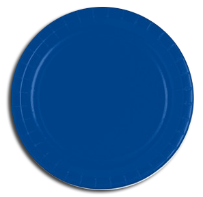 Royal Blue paper party plates