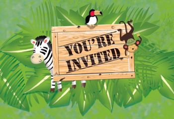Safari Jungle Party Invites