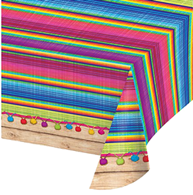 Mexican Fiesta Serape Plastic Table Cloth