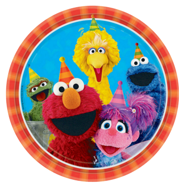 Sesame Street Party Plates - Large