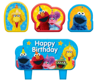 Sesame Street Party Candles