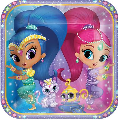 Shimmer and Shine Large Plates