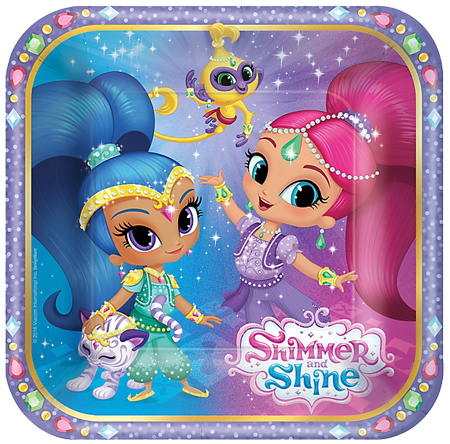 Shimmer and Shine Small Plates