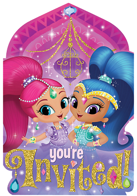 Shimmer and Shine Party Invitations