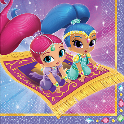 Shimmer and Shine party napkins