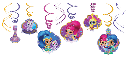 Shimmer and Shine Swirl Decorations