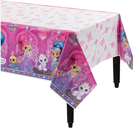 Shimmer and Shine Plastic Table Cloth