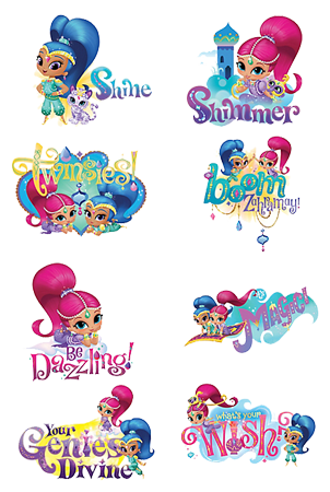 Shimmer and Shine Party Tattoos