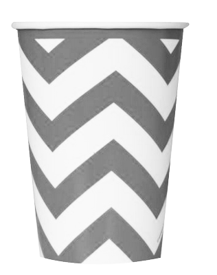 Silver Chevron Party Cups