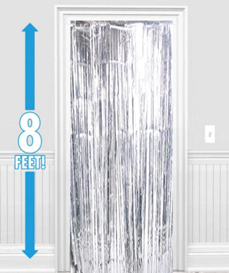 Silver Metallic Foil Curtain