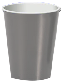 Silver party cups