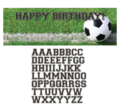Soccer Party Birthday Customizable Banner
