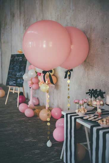 Classi pink jumbo party balloons