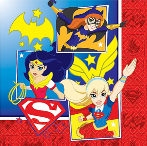 Super Hero Girls Party Napkins NZ