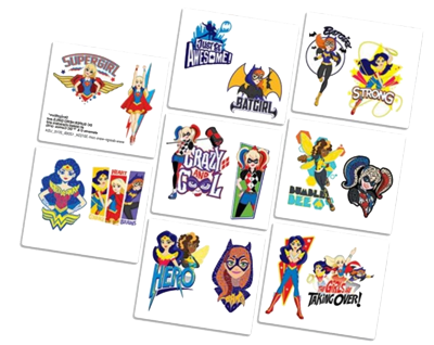 Super Hero Girls Party Tattoos