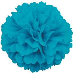 Teal Puff Ball Decoration