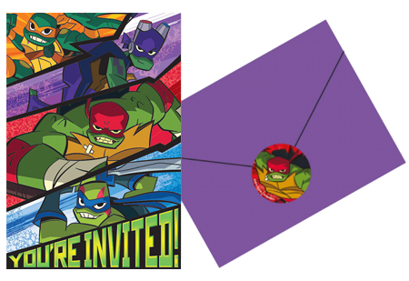 Teenage Mutant Ninja Turtles Party Invites