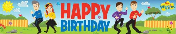 The Wiggles Happy Birthday Banner