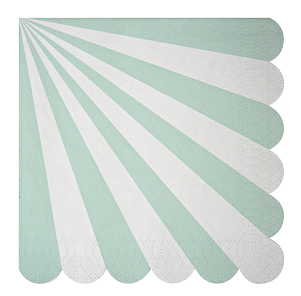 Toot Sweet Aqua Striped Lunch Napkin
