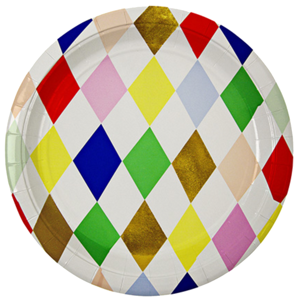 Toot Sweet Harlequin Party Plates