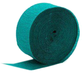 Tropical Teal Paper Streamer