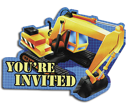 Under Construction party invites