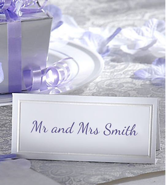 Wedding Sliver Embossed Place Cards