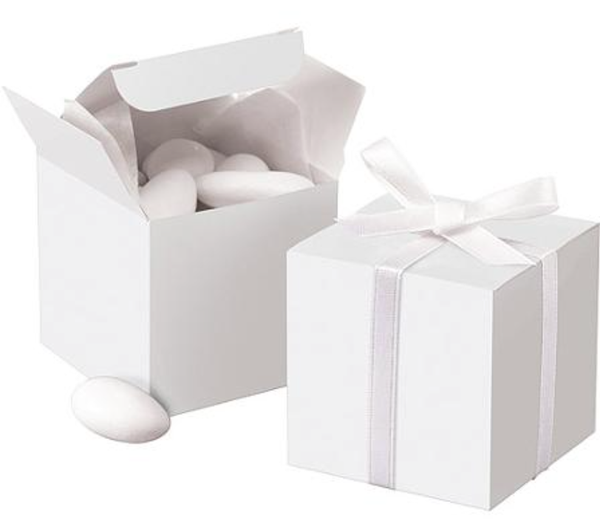 White Mega Value Favour Boxes - 100pk