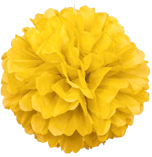 Sunshine Yellow Puff Ball Decoration