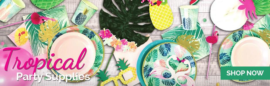 Tropical Leaf Gold Foil Party